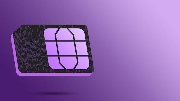 휴대폰 3d 용 sim 카드 기술