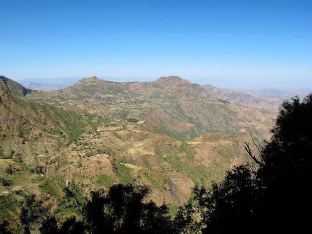 アフリカ、エチオピアのシメオン山地