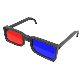 Simple 3d glasses with red and blue lenses