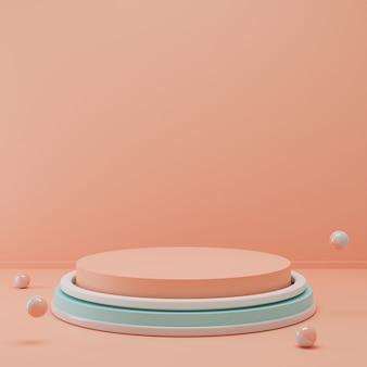 piedistallo semplice del cerchio di rendering 3d per la visualizzazione del prodotto