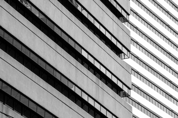 Simple architecture of modern building pattern - black and white