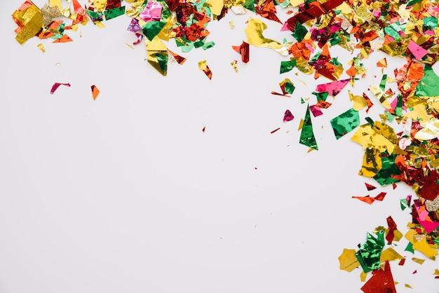 Simple arrangement of vibrant confetti