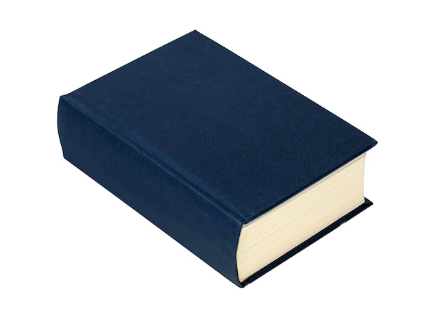 Simple blue hardcover book