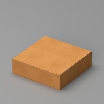 Semplice scatola di cartone marrone