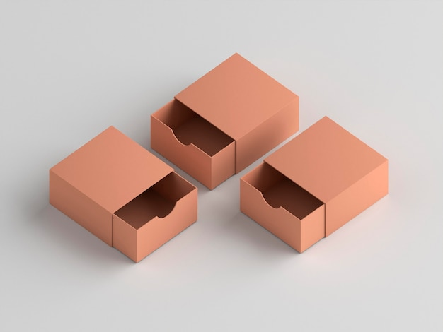 Simple cardboard boxes high view
