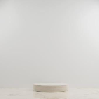 Simple circle marble modern mockup podium with white background