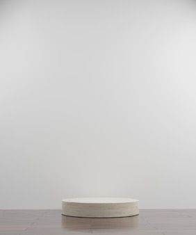 Simple circle marble modern mockup podium