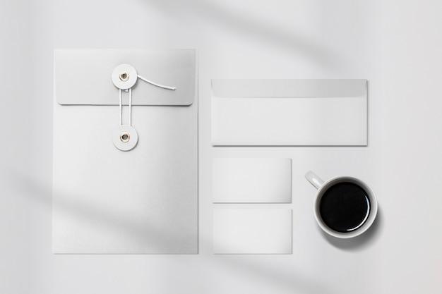Simple corporate identity branding stationery set