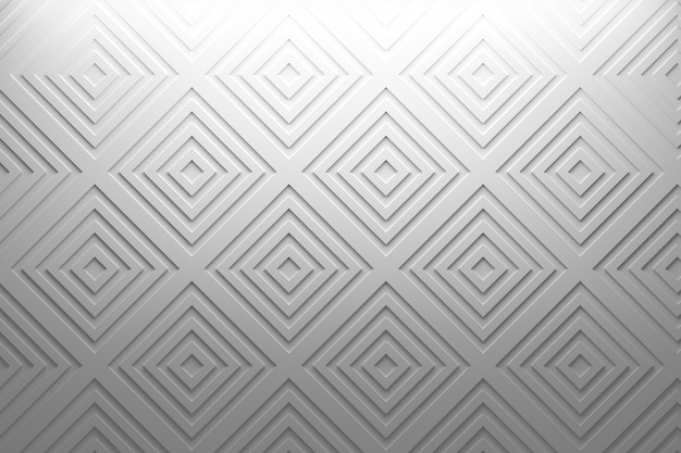 Simple delicate geometric white pattern with squares