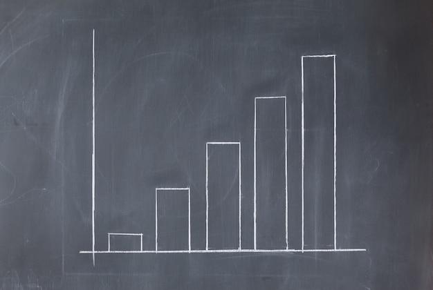 Simple diagram on a blackboard