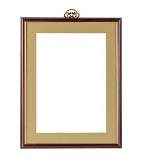 Simple frame with dark borders under the lights isolated on a white background