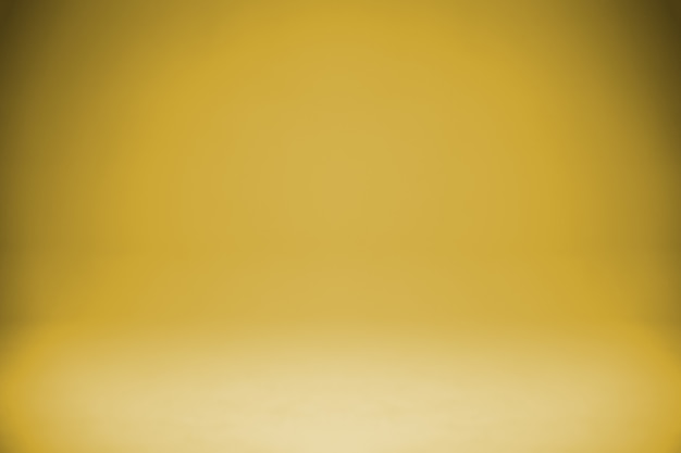 Simple gold gradient studio light background
