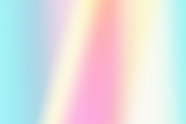 Simple gradient light pink, blue and yellow pastel holographic background