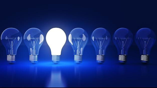 シンプルな電球の3dレンダリング