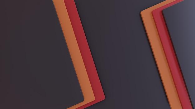 Papercut 스타일로 간단한 현대 3d 모양 배경