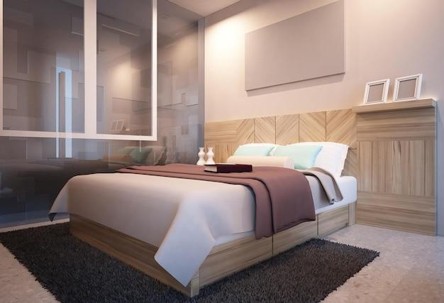 심플 모던 미니멀리즘 내츄럴 침실 인테리어 디자인 영감