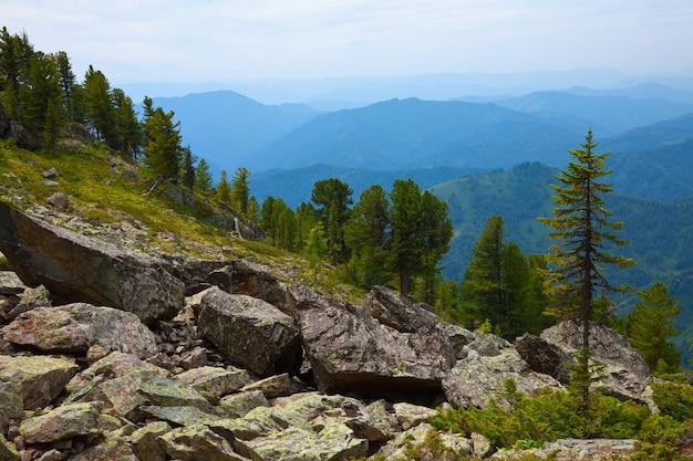 Simple  mountains landscape