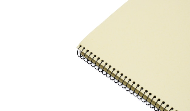A simple notebook close view with copy space
