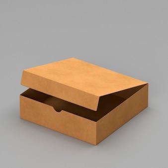 Простая открытая картонная коробка