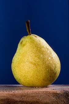 Simple pear with plan background