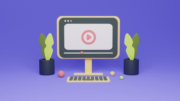Простая концепция рендеринга видео из фильма