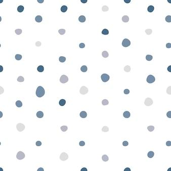 シンプルな水玉模様のシームレス柄。スカンジナビアスタイルの壁紙。生地、テキスタイルプリント、ラッピングのデザイン。ベクトルイラスト