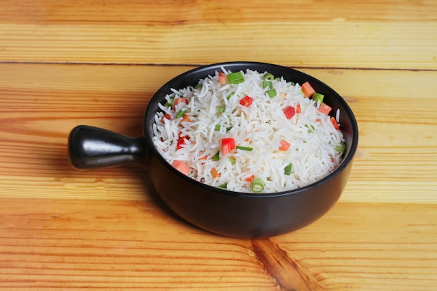 Simple steamed vegetable rice dish