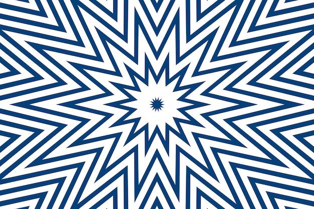 白の異なるデザイン形状のシンプルな直線の青い線のストライプ