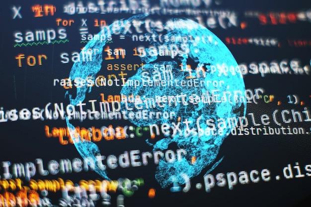 간단한 웹사이트 html 코드. 웹사이트 코딩을 위한 자바스크립트 프론트엔드 웹 개발 프로그래밍 언어.