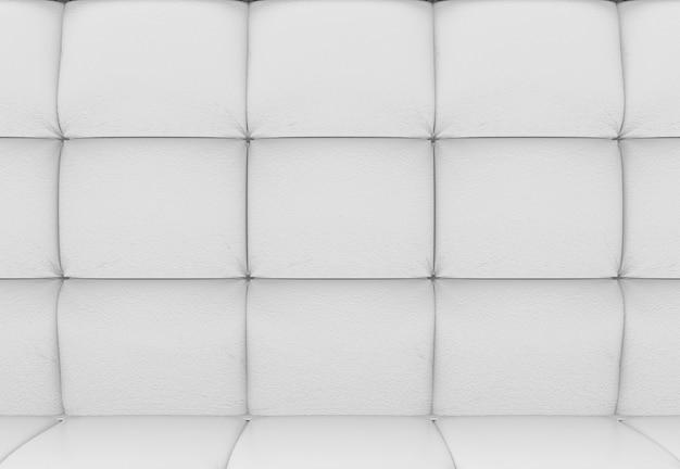 シンプルな白い正方形ブロックの壁の背景
