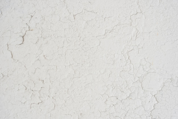 Simple white wall with cracks