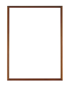 Simple wooden frame isolated on a white surface