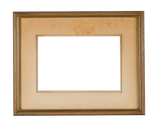 Simple wooden frame with golden borders