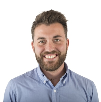 シンプルな若い男の笑顔と楽観的な顔