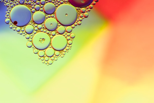 Simplistic colourful background with bubbles