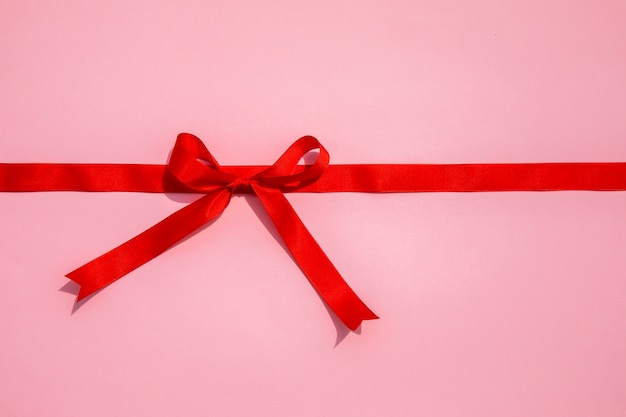 Simplistic red ribbon with bow