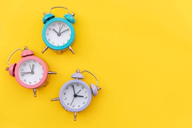 Simply minimal design three ringing twin bell classic alarm clock