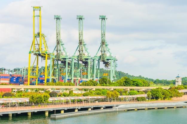 Сингапурский кран для перевозки грузов