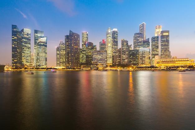 Singapore downtown sunset