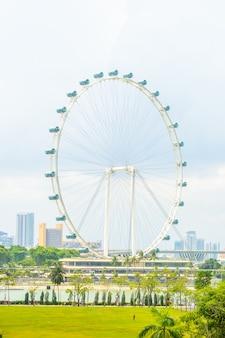 Singapore flyer at singapore