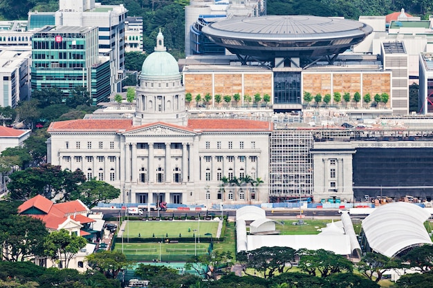 Singapore - october 18, 2014: the old supreme court building is the former courthouse of the supreme court of singapore.