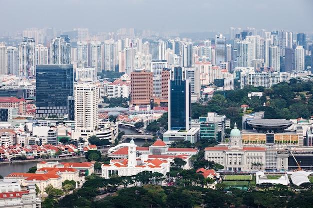 싱가포르 - 2014년 10월 18일: 싱가포르 도시의 스카이 라인.