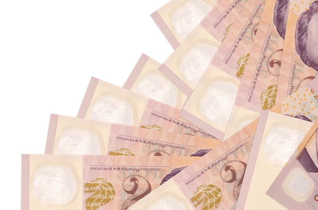 Singaporean dollars bills lies in different order