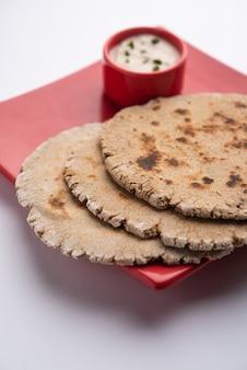 Singhara atta roti or singoda or water chestnut paratha or flatbread