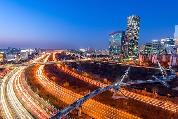 Singil district, seoul, south korea skyline at night.