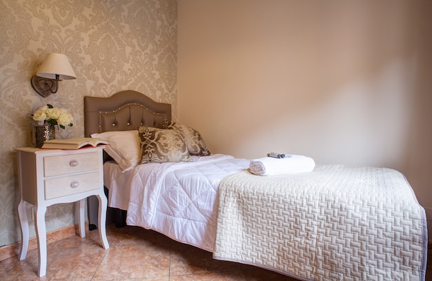 Single bedroom of the ares hotel