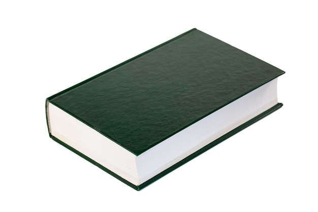 Single book isolated on white, education