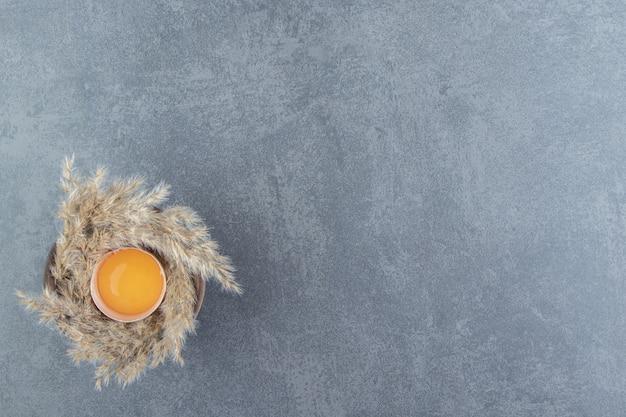 Single broken egg
