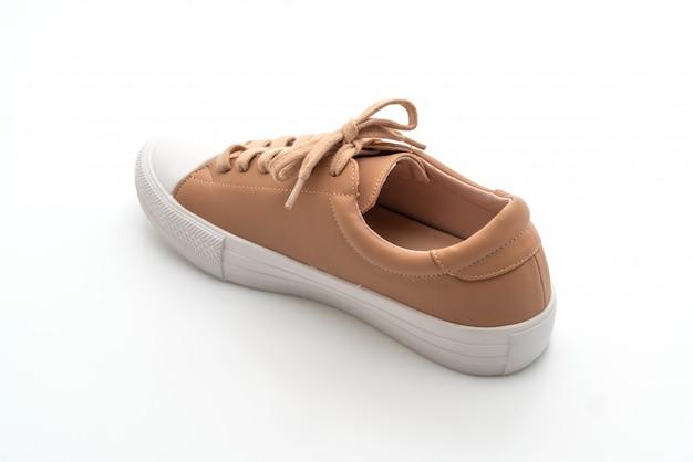 Single brown sneaker