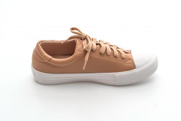 Single brown sneakers